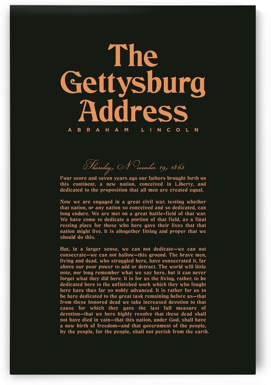 The Gettysburg Address 2 - Abraham Lincoln by Studio Grafiikka