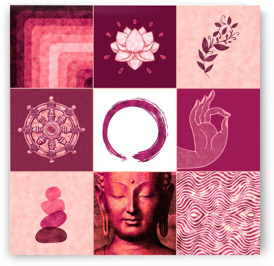 Buddha Grid 02 - Spiritual Collage by Studio Grafiikka