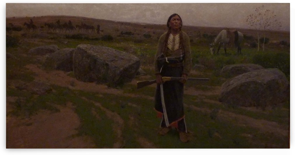Indian woman at hunt by Alfred Jacob Miller