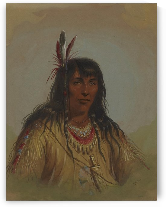 Bannock Indian by Alfred Jacob Miller