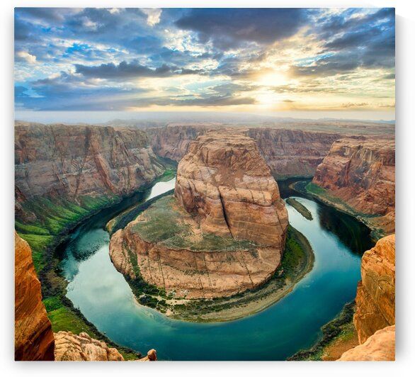 Late day at Horseshoe Bend by Scene Again Images: Photography by Cliff Davis