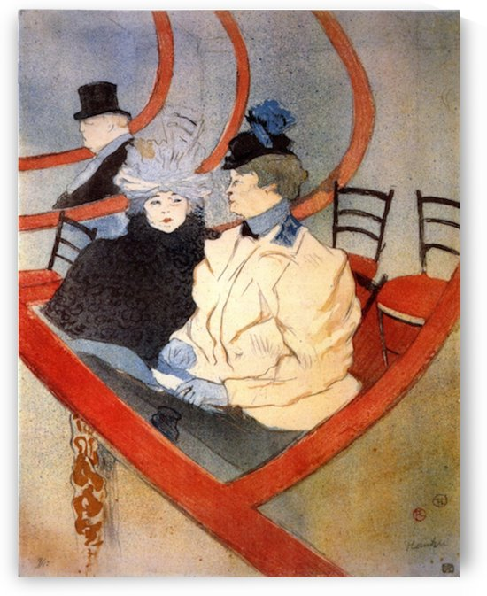 The loge 2 by Toulouse-Lautrec by Toulouse-Lautrec