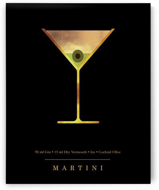 Martini - Classic Cocktail - Minimal Lounge Art by Studio Grafiikka