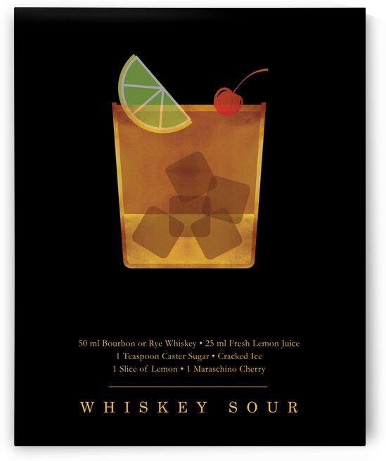 Whiskey Sour - Classic Cocktail - Minimal Lounge Art by Studio Grafiikka