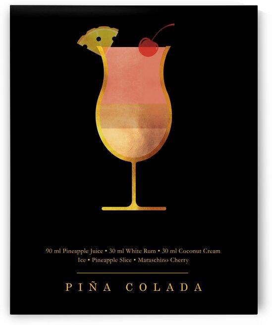Pina Colada - Classic Cocktail - Minimal Lounge Art by Studio Grafiikka