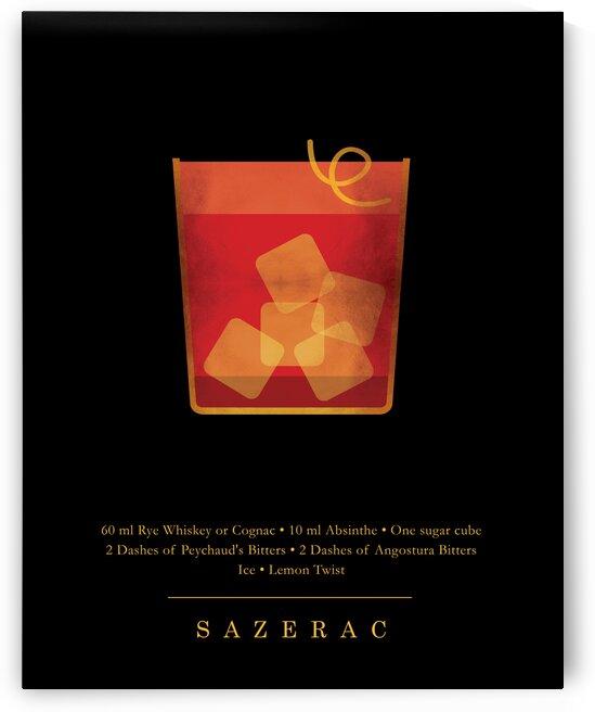 Sazerac - Classic Cocktail - Minimal Lounge Art by Studio Grafiikka