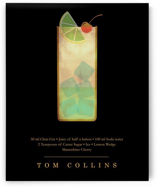 Tom Collins - Classic Cocktail - Minimal Lounge Art by Studio Grafiikka