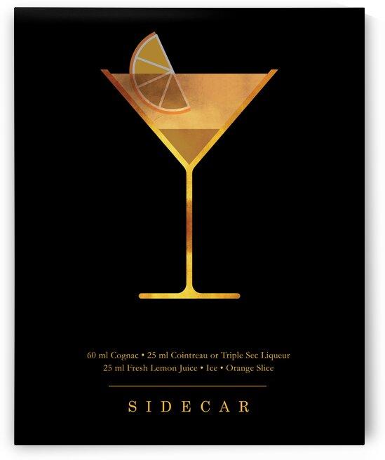 Sidecar - Classic Cocktail - Minimal Lounge Art by Studio Grafiikka