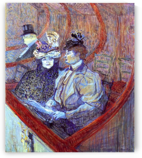 The loge by Toulouse-Lautrec by Toulouse-Lautrec