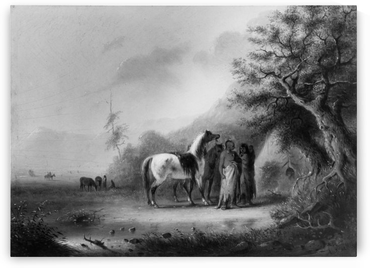 Sioux Indians in the mountains by Alfred Jacob Miller