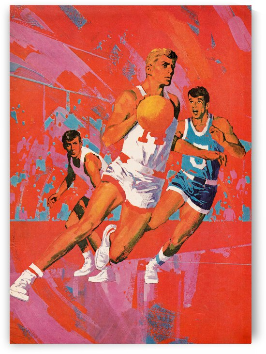 1969 Artist Lou Feck Basketball Cover Art by Row One Brand
