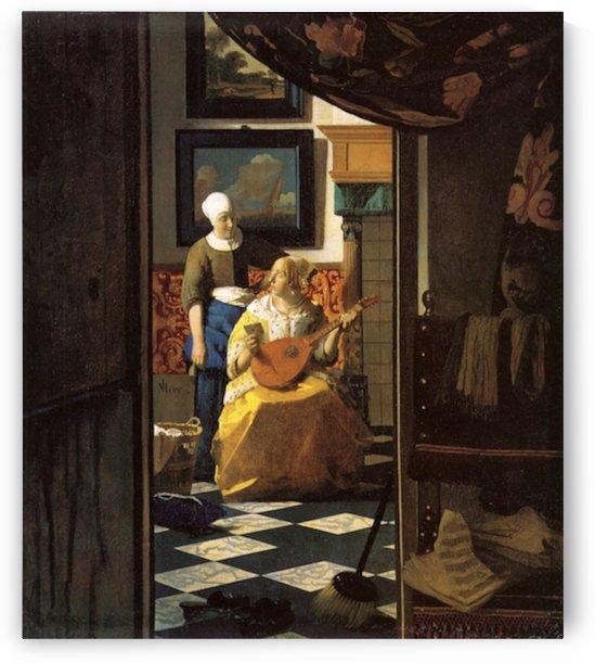 The love letter by Vermeer by Vermeer