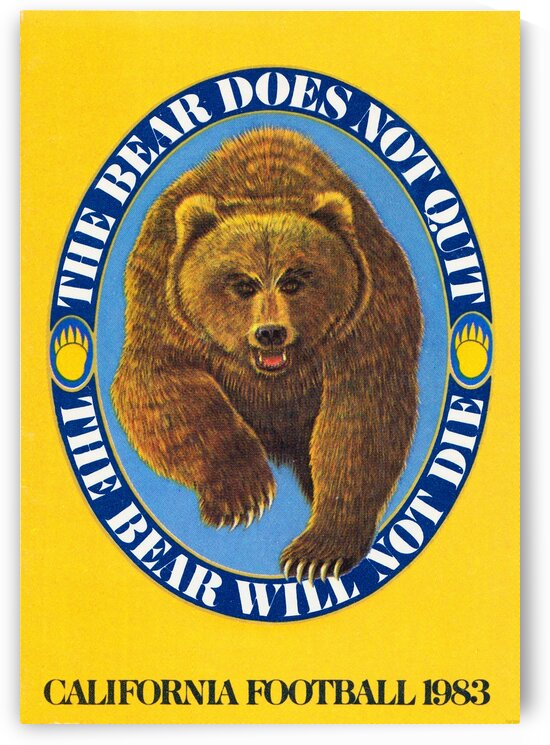 1983 Cal Bears Football Poster by Row One Brand