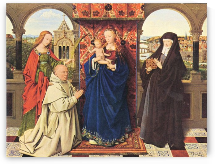 The Madonna with the Carthusians by Jan Van Eyck by Jan Van Eyck