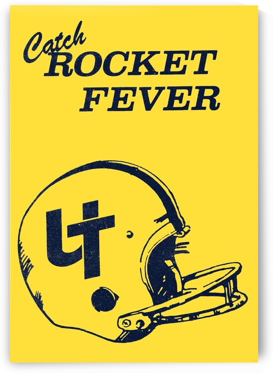 1988 Toledo Rocket Fever Football Poster by Row One Brand