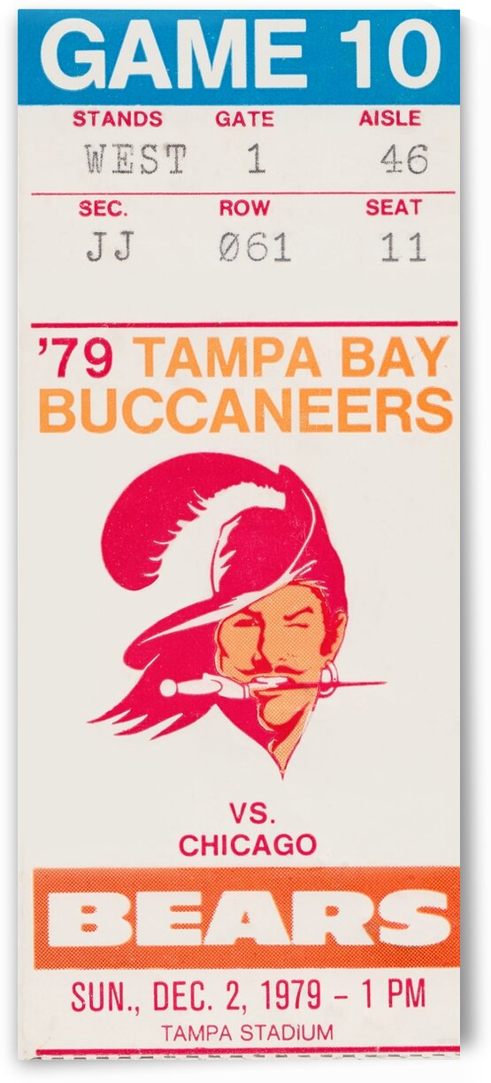 1979 Tampa Bay Buccaneers vs. Chicago Bears by Row One Brand