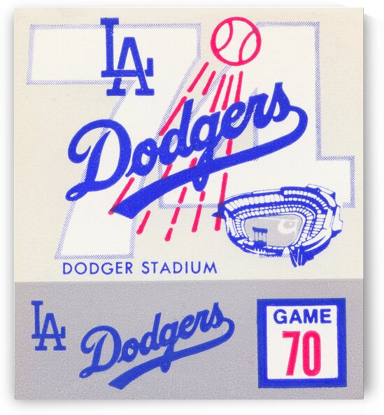 1974 Los Angeles Dodgers Ticket Stub Canvas Art by Row One Brand