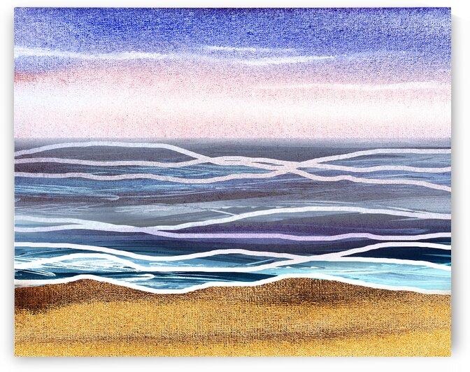 Beach Art Ocean Seascape Sea View Painting For Home Interior Decor V by Irina Sztukowski