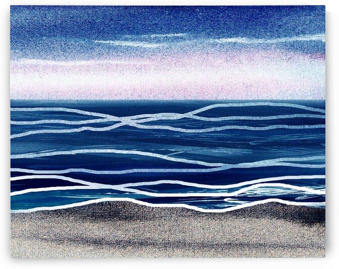 Beach Art Ocean Seascape Sea View Painting For Home Interior Decor VI by Irina Sztukowski