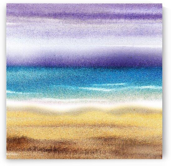 Beach Art Ocean Seascape Sea View Painting For Home Interior Decor VII by Irina Sztukowski