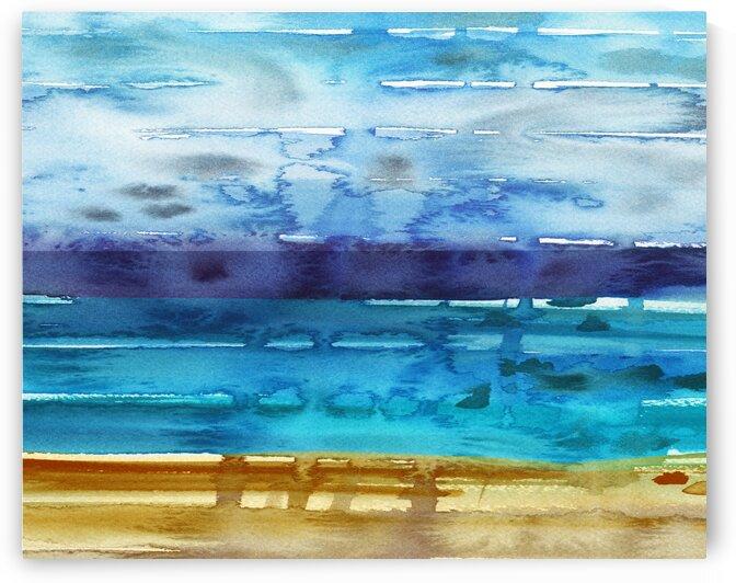 Beach Art Ocean Seascape Sea View Painting For Home Interior Decor IX by Irina Sztukowski