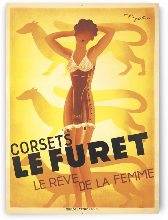 Corests Le Furet by VINTAGE POSTER