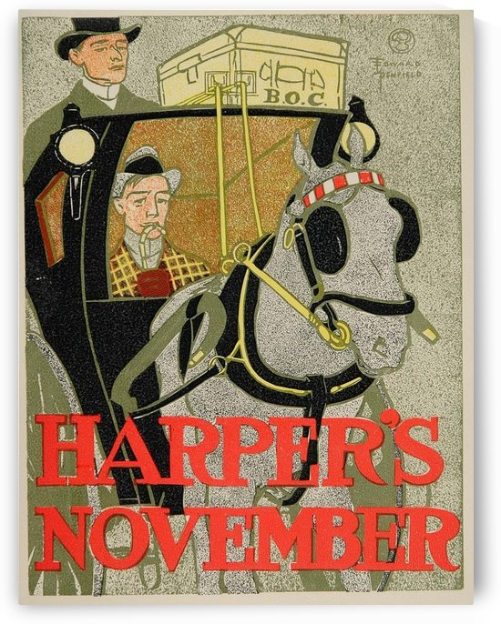 Harpers November by VINTAGE POSTER