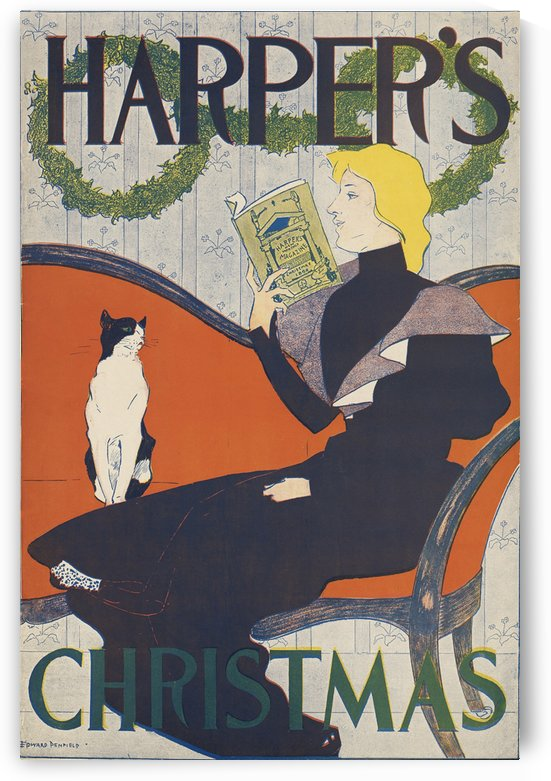 Harper's Christmas by VINTAGE POSTER
