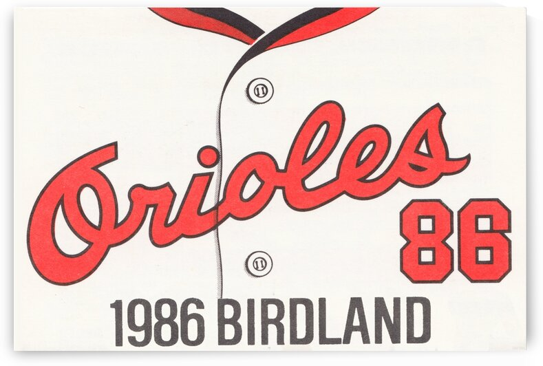1986 Baltimore Orioles Metal Sign by Row One Brand