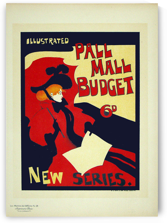 Pall Mall Budget by VINTAGE POSTER
