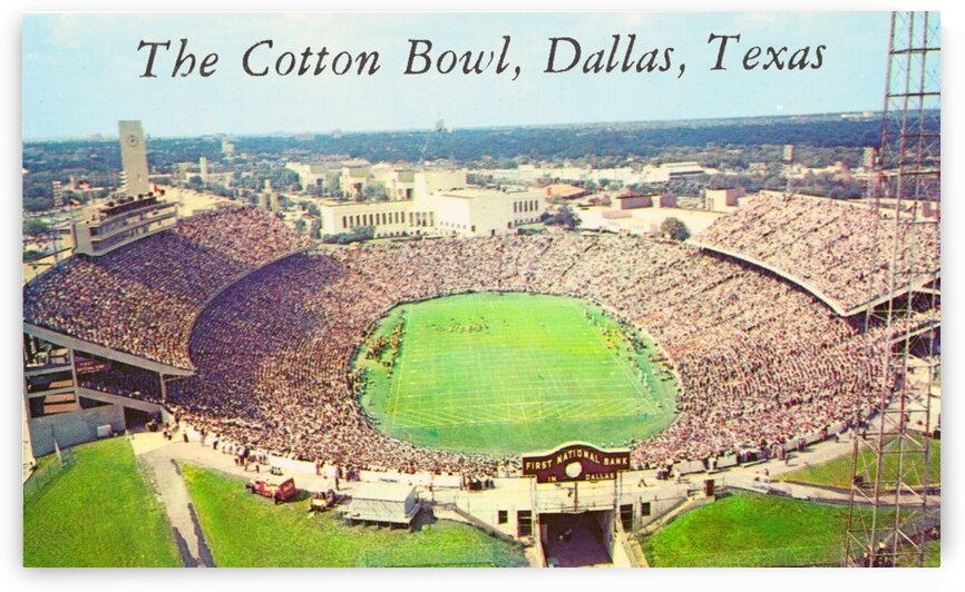 Vintage Oklahoma Sooners vs. Texas Longhorns Cotton Bowl Stadium Photo by Row One Brand
