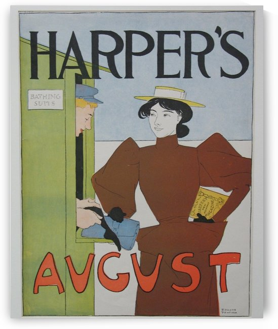 Harper's August Bathing by VINTAGE POSTER