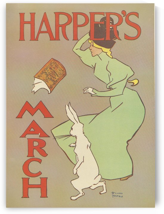 Harper's March Rabbit by VINTAGE POSTER