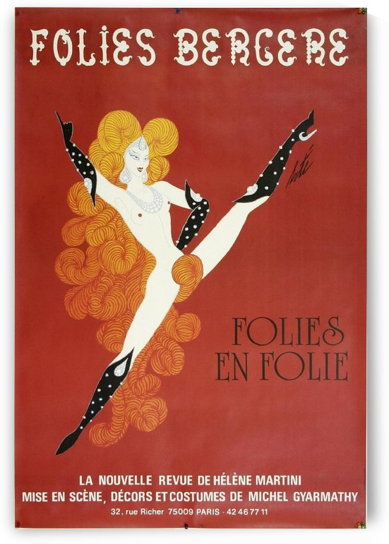 Red Mill Showgirl by VINTAGE POSTER