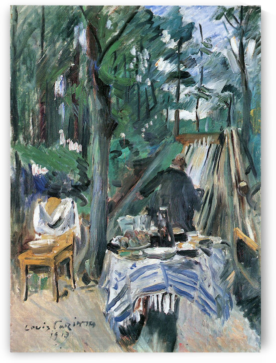 Skittle Alley by Lovis Corinth by Lovis Corinth