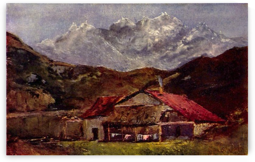The Mountain Hut by Gustave Courbet by Gustave Courbet