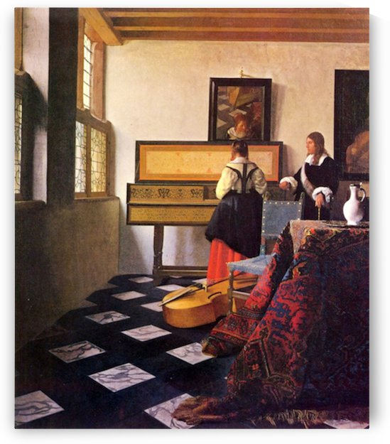 The music lesson by Vermeer by Vermeer