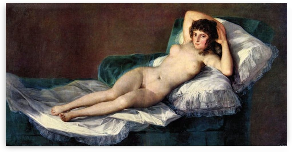 The naked Maja by Goya by Goya