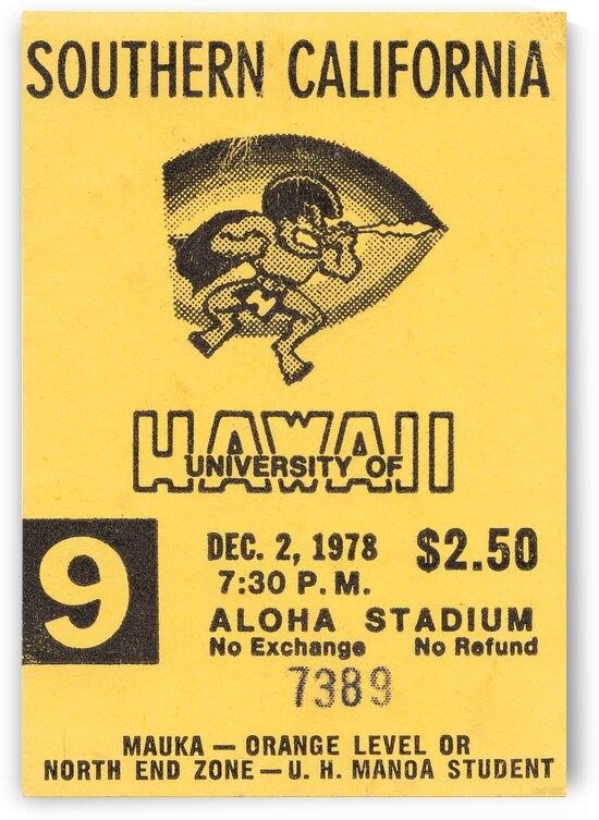 1978 USC vs. University of Hawaii Football Ticket Canvas by Row One Brand