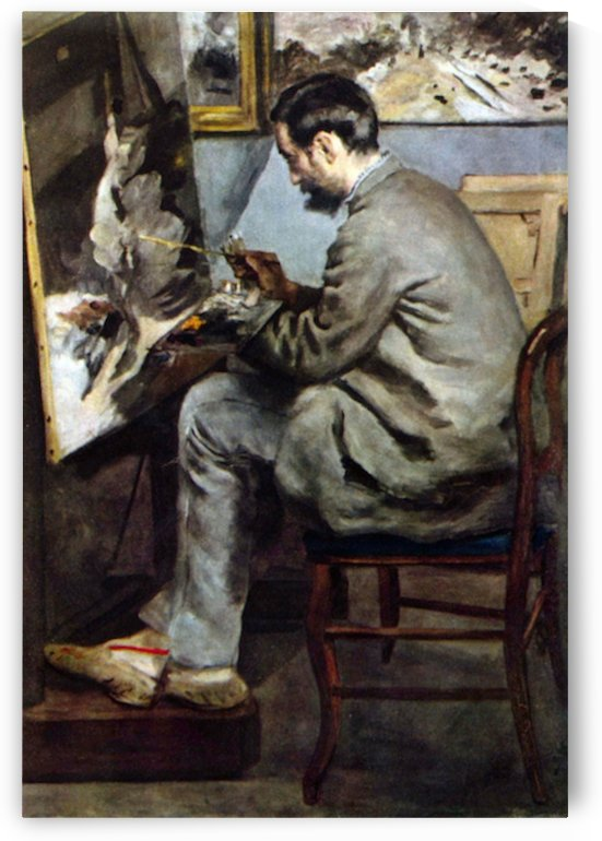 The painter in the studio of Bazille by Renoir by Renoir