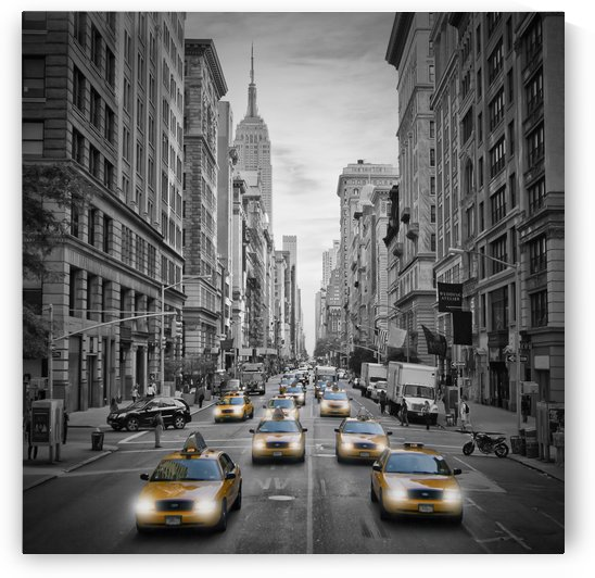5th Avenue NYC Traffic II by Melanie Viola
