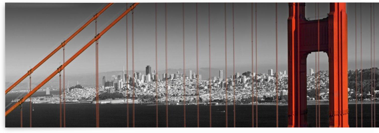 Golden Gate Bridge Panoramic Downtown View by Melanie Viola