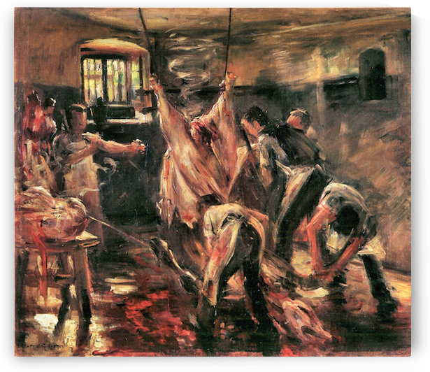 Slaughterhouse by Lovis Corinth by Lovis Corinth