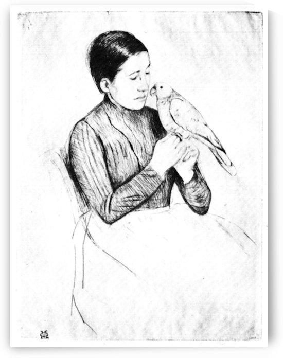 The parrot by Cassatt by Cassatt