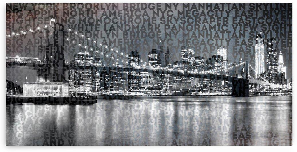 Urban-Art NYC Brooklyn Bridge III by Melanie Viola