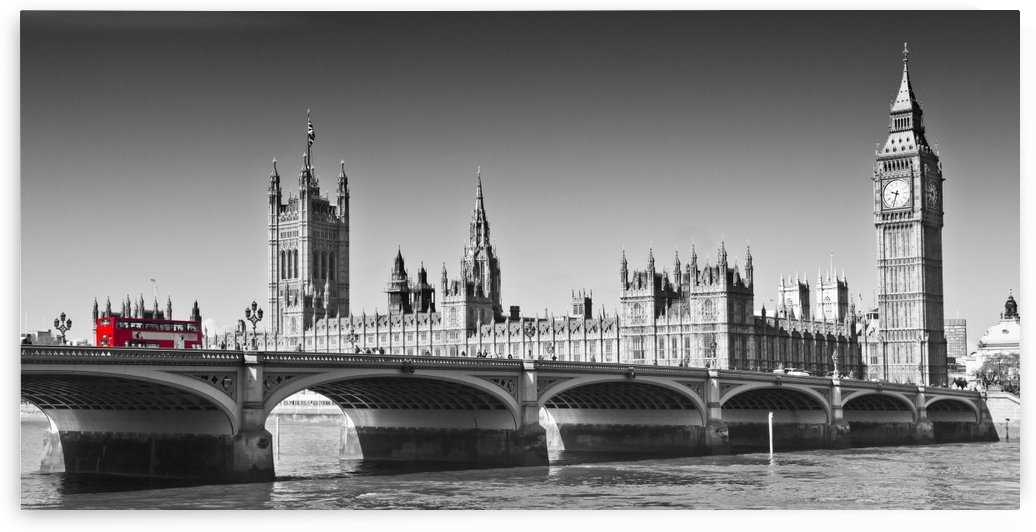 LONDON Westminster Bridge |panoramic view by Melanie Viola