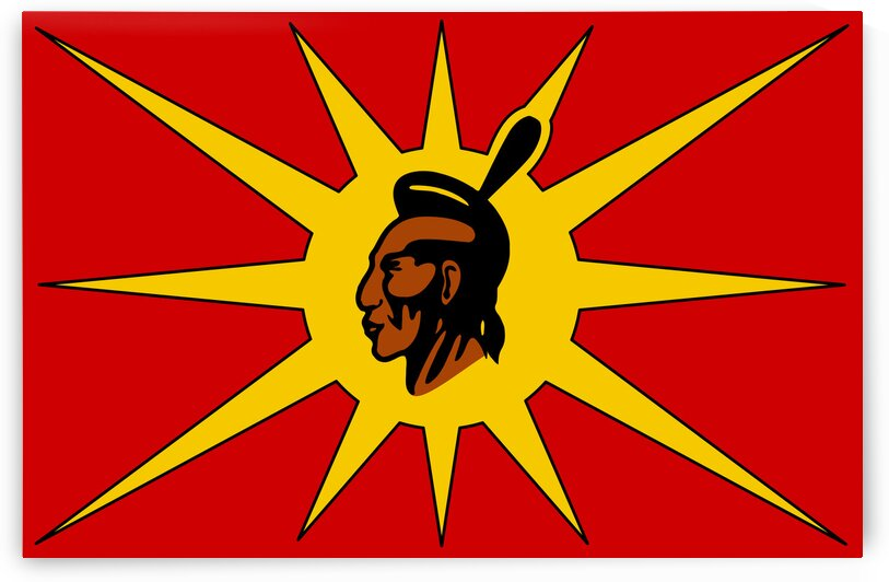 Mohawk Warrior Society Flag by Fun With Flags