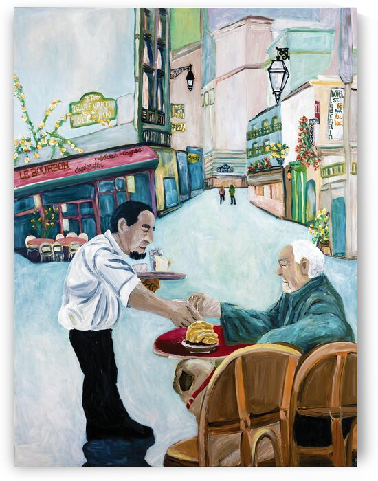 Pug Cafe St. Germain by Deborah Alastra