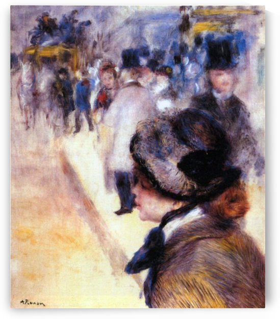 The place Clichy by Renoir by Renoir