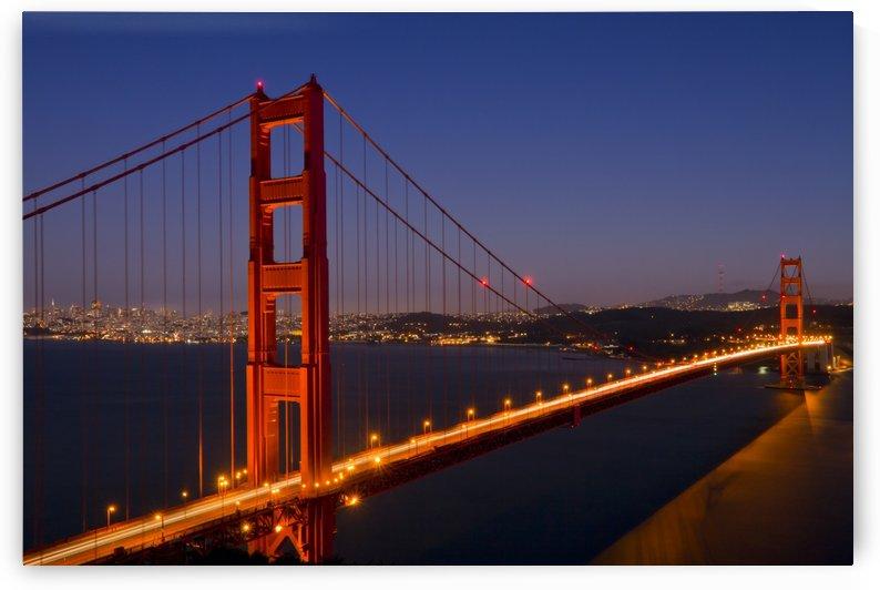 Golden Gate Bridge at Night by Melanie Viola